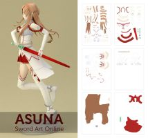Asuna Sword Art Online Papercraft by gudjier