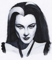 Lily Munster by TomikoArt