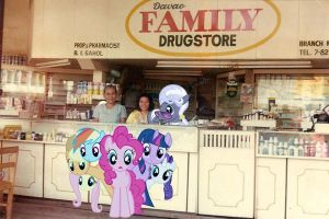 Ponies At The Family Drugstore by RicRobinCagnaan