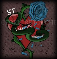 Tattoo Vector - St Valentin by 25clad35