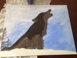 Wolf paiting by TheDogwhitaTail