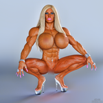 Muscle Barbie Nude by Siberianar