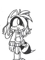 Line Art Ruby Ringtail by tailsfan1996