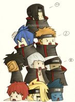 Akatsuki Pile-up :collab: by SasukeRoxMySox2