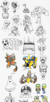Sketch compilation #? by Pokekoks