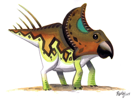 Protoceratops by Pocketowl