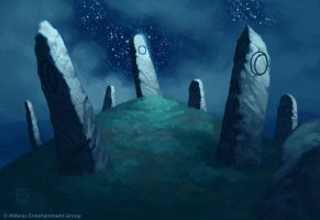 Standing Stones by alexstoneart