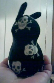 Bunny Plushies - Scout Skull Bunny by PinkOctopus13