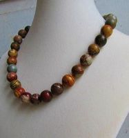 Knotted Red Creek Jasper Necklace by SadiesAccessories
