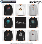 Society 6 Hoodies by sampsonknight