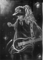 Tom Kaulitz in Chalk by LunaNueva01