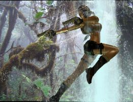 pacific coasts Lara Croft fight by 7ipper