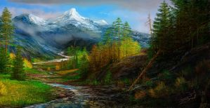 study of the highlands IV by andrekosslick