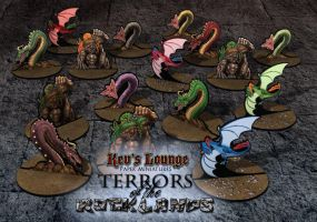 Terrors of the Rocklands - Paper Miniatures by BraveSirKevin