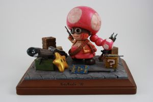 Zombie Hunter Toadette Figure by kodykoala