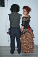 Sweeney Todd and Mrs lovett by CaptJackSparrow123