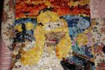 Homer Simpson as the Scream made out of buttons :) by TiaLeTurtlex3