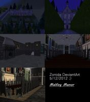 Malfoy Manor Sims 2 by Zonida