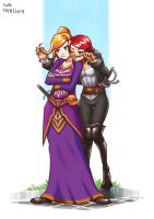 Villiera and Vanessa by Lutherniel