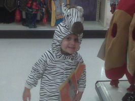My nephew the zebra by Noratcat
