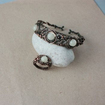 Ring and bracelet by WhiteSquaw