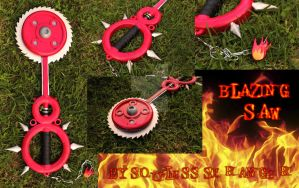 Blazing Saw Keyblade by SoulessStranger