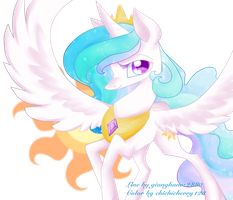 Queen Celestia by chichicherry123