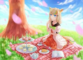 spring tea time by konoumin