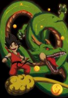 Goku And Dragon by Anny-D