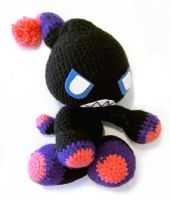 Dark Chao Amigurumi by vrlovecats