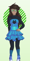 Jade Eclectica dress (MS Paint) by RadiaNerale