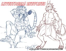2 November Livestream Sketch Commissions 9 by lady-cybercat
