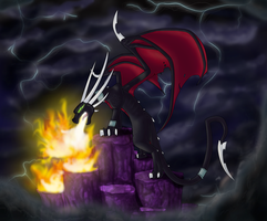 Cynder's rage by Spyro-fan-25