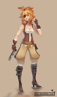 Orange/Cammie - Pirate Concept by EvilQueenie