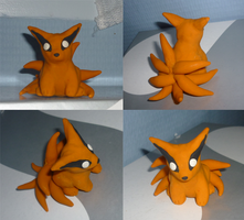 Mini Kyuubi clay figure by goiku