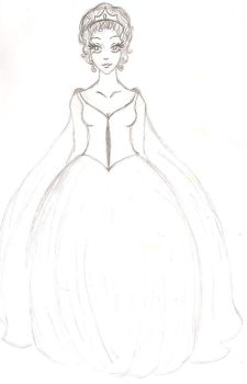Second Cinderella Wedding Gown Style by kamomillou