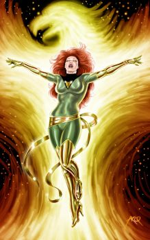 Jean Grey as Phoenix - Commission by ArcosArt