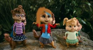 Emily with the Chipmunks and Chipettes by MrsEmilySeville