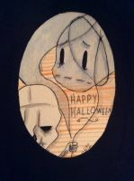 Happy Halloween from Vincent and Ecto by HaleyKlineArt
