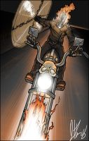 GhostRider in the Sky by narutowannabe