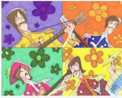 The Beatles Sgt. Pepper by tygertailzz