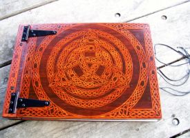 Celtic Crimson Witch Grimoire finally finished by WOODEWYTCH