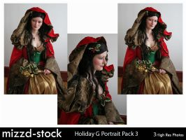 Holiday Goddess Portrait Pack3 by mizzd-stock