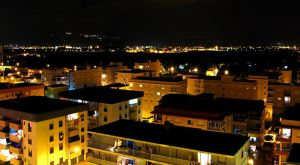 small Spanish pueblo by night by Connum