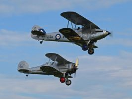 Hawker Hind with Gladiator by davepphotographer