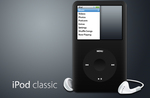iPod Classic with Headphones by brokenb-x