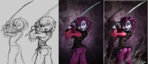 misty painting process by 14-bis