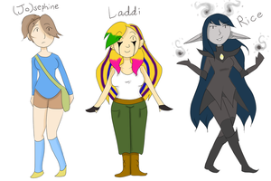 Character Introductions 1 by creeperstarfish