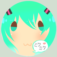 Miku button by Purufufuru