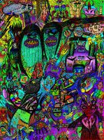 """11x14"""" Monster Collage 4 Color by ColinMartinPWherman"""